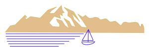 Berg See und Schiff
