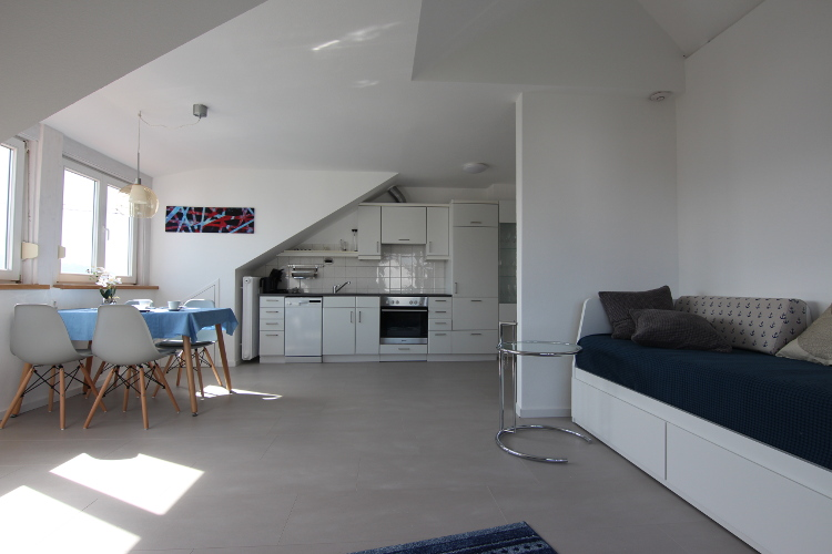 Moderne Küche in der Ferienwohnung Seeorchidee in Sipplingen